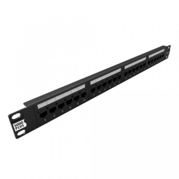 PATCH PANEL SOHOPLUS CAT.5E - 24 PORTAS T568A/B
